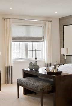 Pleated Roman Shades For Richmond Living Room